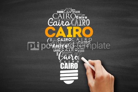 Business: Cairo light bulb word cloud travel concept #09707