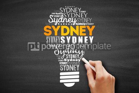 Business: Sydney light bulb word cloud #09714