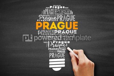 Business: Prague light bulb word cloud #09716