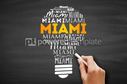 Business: Miami light bulb word cloud #09717