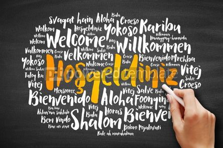 Business: Hosgeldiniz (Welcome in Turkish) word cloud #09723