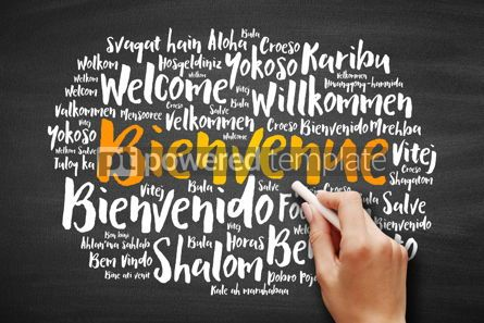Business: Bienvenue (Welcome in French) word cloud #09726