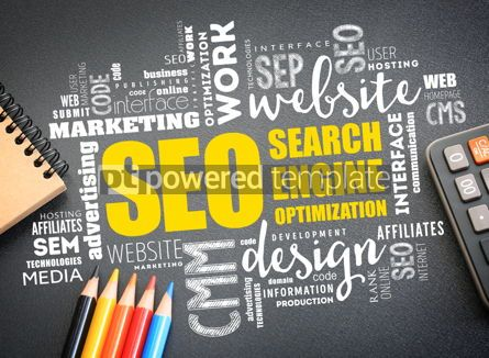 Business: SEO (Search Engine Optimization) word cloud #09738