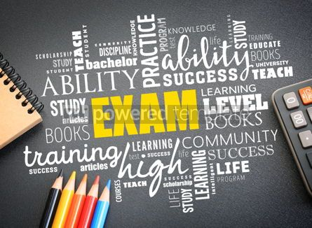 Business: EXAM word cloud collage education concept #09747