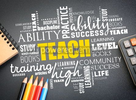 Business: TEACH word cloud collage education concept #09748