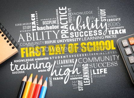 Business: First day of school word cloud collage #09751