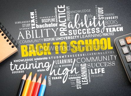 Business: Back to School word cloud collage #09752