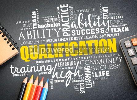 Business: Qualification word cloud education concept #09753
