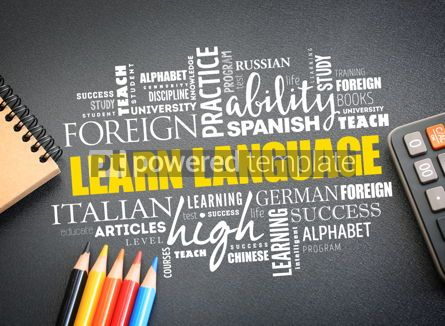 Business: Learn Language word cloud education concept #09756