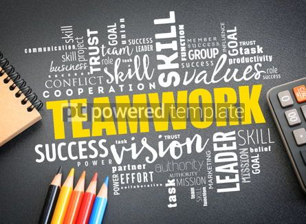 Business: Teamwork word cloud collage business concept #09761