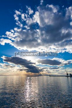 Nature: Sunset sky over the sea #09777