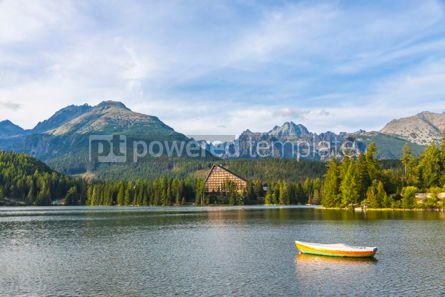 Nature: Mountain lake Strbske pleso High Tatras Slovakia #09786