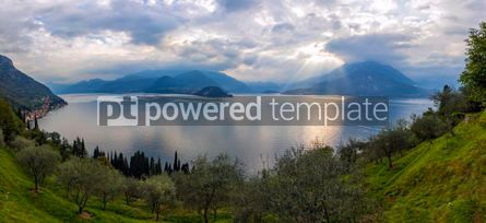Nature: Panoramic view of Lake Como in Varenna town Italy #09791