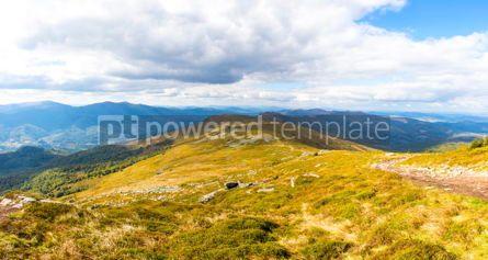 Nature: Picturesque panorama of Carpathian mountains Ukraine #09793