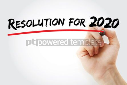 Business: Resolution for 2020 with marker concept background #09795