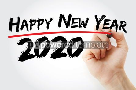 Business: Happy new year 2020 with marker concept background #09796