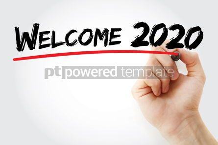 Business: Welcome 2020 with marker concept background #09797