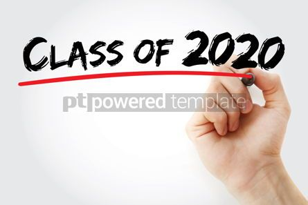 Business: CLASS OF 2020 with marker education concept background #09798