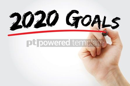 Business: 2020 Goals with marker business concept background #09799