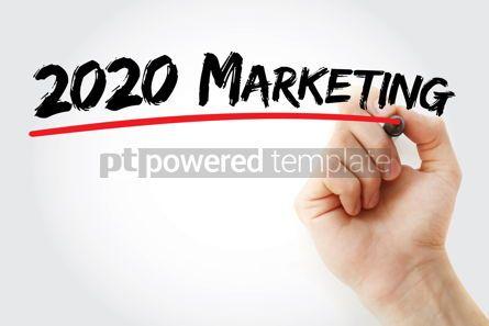 Business: 2020 Marketing for new business with marker concept background #09800