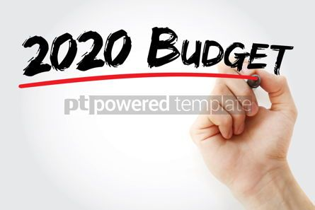 Business: 2020 Budget for new business with marker concept background #09801