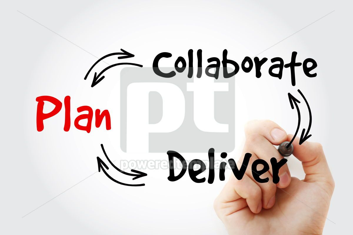 Project Plan diagram mind map with marker business concept, 09804, Business — PoweredTemplate.com