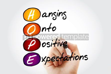 Health: HOPE - Hanging Onto Positive Expectations acronym concept #09834