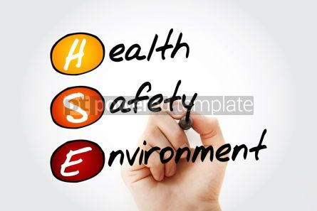 Health: Hand writing HSE - Health Safety Environment acronym with marker #09836