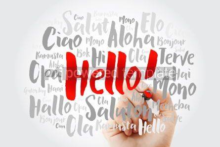 Business: Hello word cloud with marker in different languages of the world #09864
