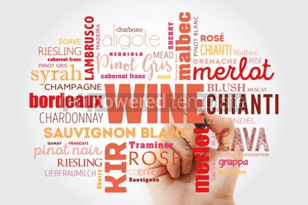 Food & Drink: WINE VARIETALS Types word cloud collage with marker concept bac #09878