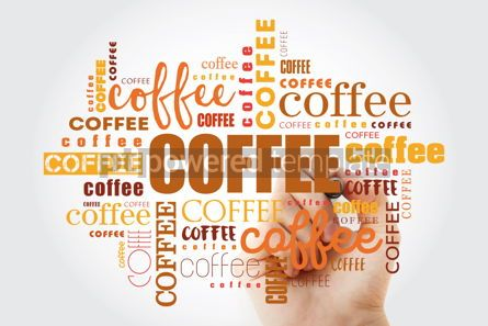 Food & Drink: Coffee words cloud collage with marker art concept background #09879