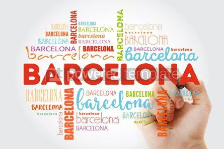 Business: Barcelona wallpaper word cloud with marker travel concept backg #09880