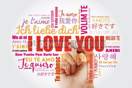 "Business: love words ""I love you"" with marker in all languages of the worl #09884"