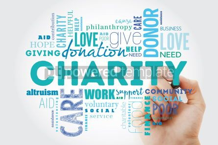 Business: Charity word cloud collage with marker business concept backgro #09890