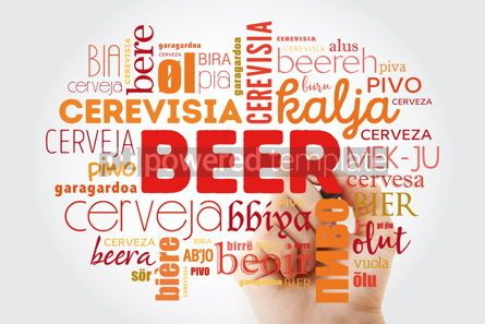 Food & Drink: BEER in different languages of the world (english french germa #09891