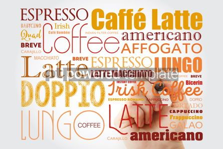 Food & Drink: List of coffee drinks words cloud collage with marker poster ba #09892
