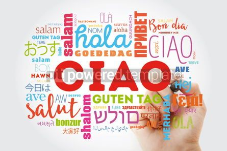 Business: Ciao (Hello Greeting in Italian) word cloud in different languag #09896