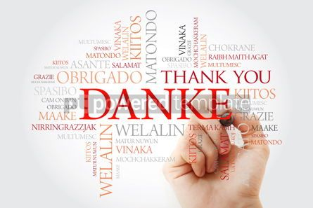Business: Danke (Thank You in German) Word Cloud with marker all language #09898