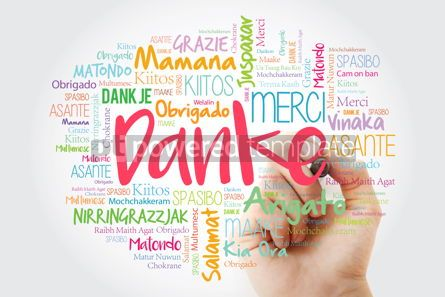 Business: Danke (Thank You in German) Word Cloud with marker all language #09907