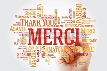 Business: Merci (Thank You in French) Word Cloud with marker all language #09909