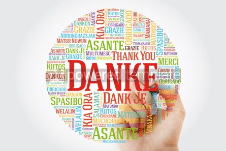 Business: Danke (Thank You in German) Word Cloud with marker all language #09915