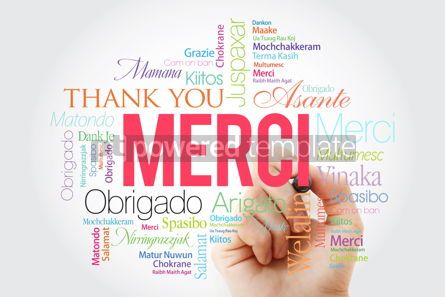 Business: Merci (Thank You in French) Word Cloud with marker all language #09918
