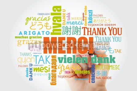 Business: Merci (Thank You in French) Word Cloud with marker all language #09919
