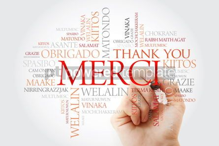 Business: Merci (Thank You in French) Word Cloud with marker all language #09921