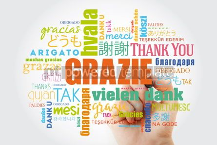 Business: Grazie (Thank You in Italian) Word Cloud with marker all langua #09932