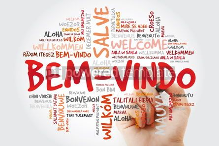 Business: Bem-Vindo (Welcome in Portuguese) word cloud with marker in diff #09934