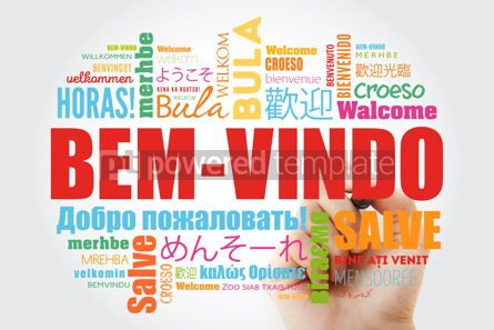 Business: Bem-Vindo (Welcome in Portuguese) word cloud with marker in diff #09935