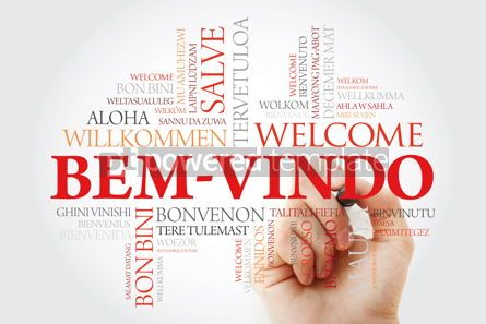 Business: Bem-Vindo (Welcome in Portuguese) word cloud with marker in diff #09936
