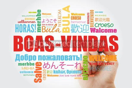 Business: Boas-Vindas (Welcome in Brazilian Portuguese) word cloud with ma #09937