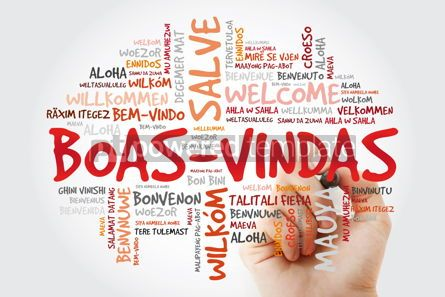 Business: Boas-Vindas (Welcome in Brazilian Portuguese) word cloud with ma #09938